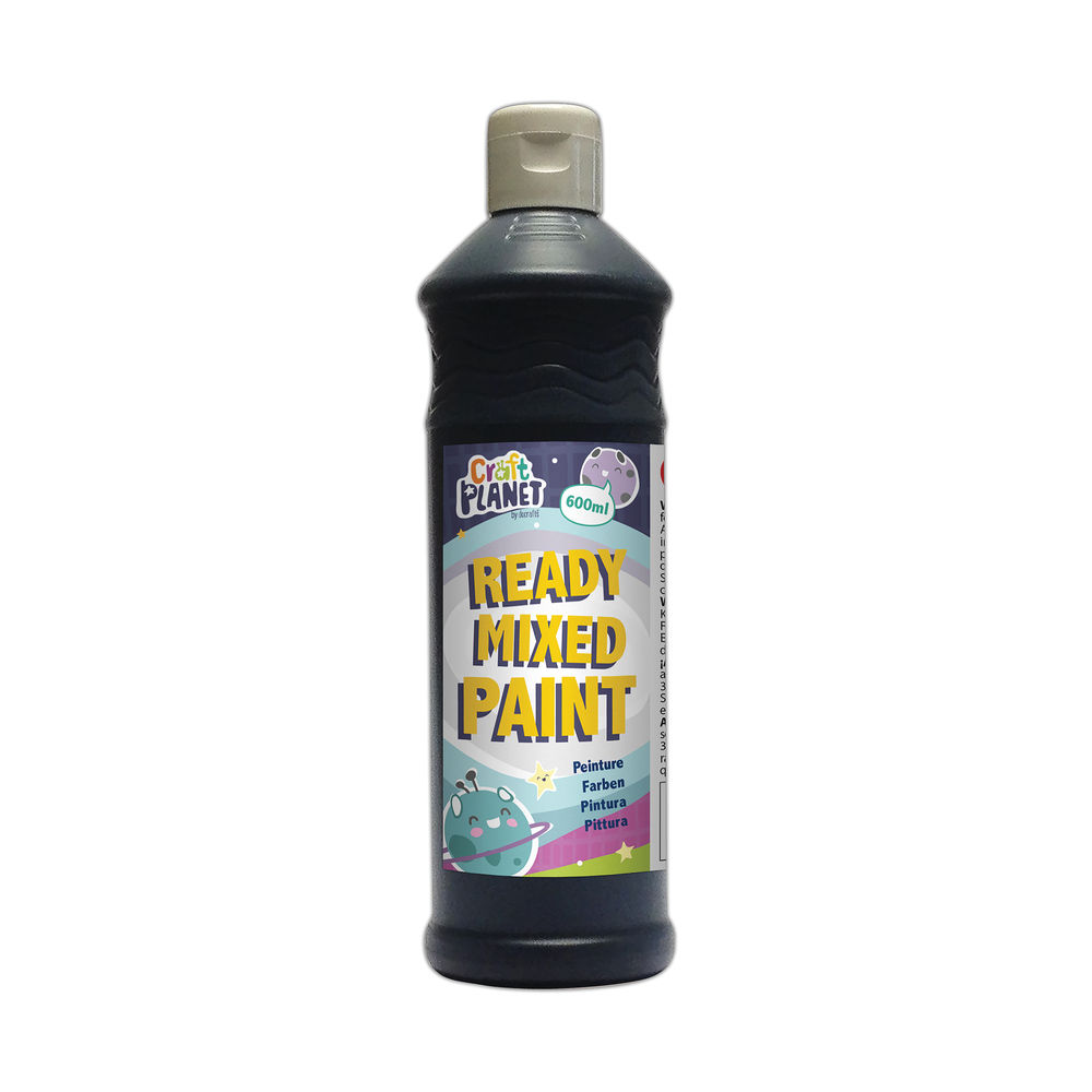 Poster Paint Ready Mixed 600ml Black WD150216