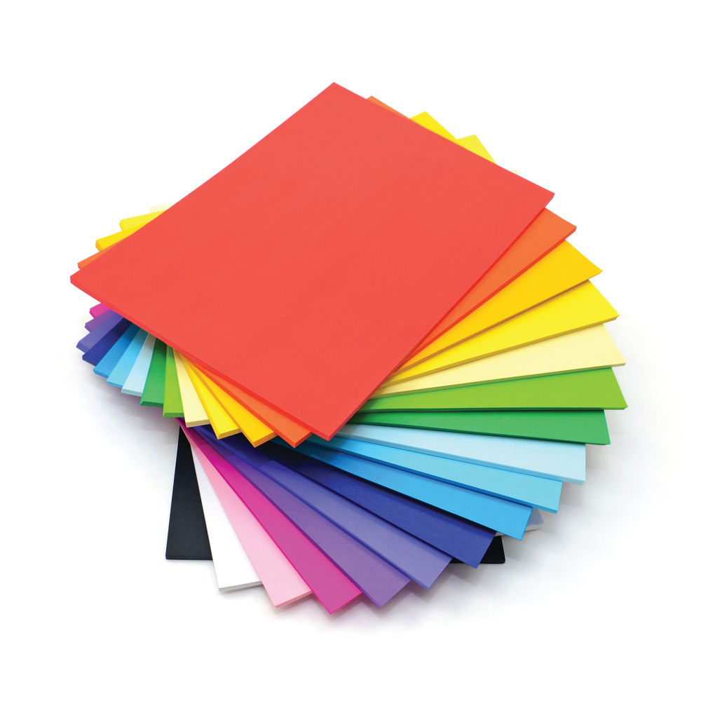 A4 Card Stack 125gsm Assorted Colours (Pack of 500) D25120