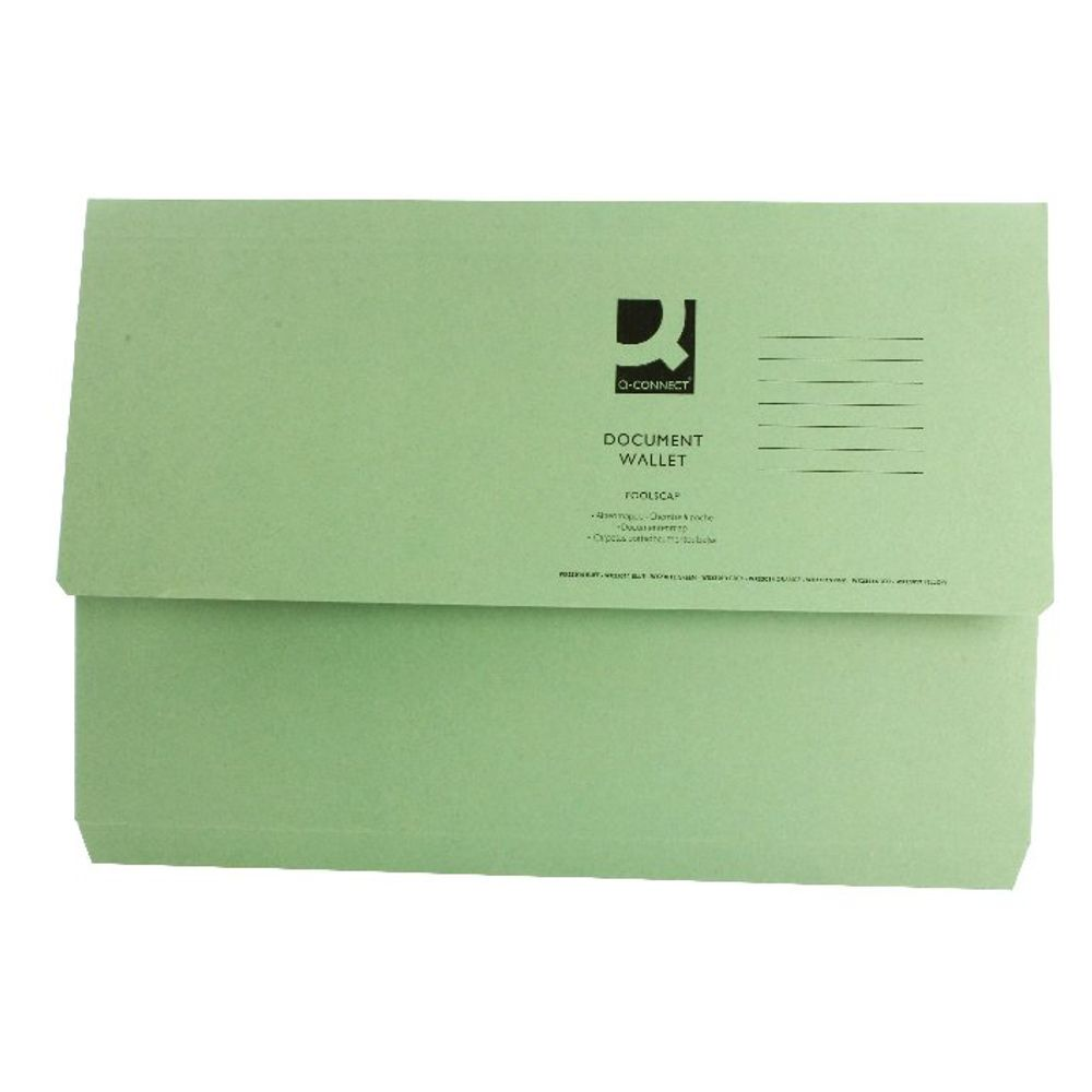 Green Foolscap Document Wallets, Pack of 50 - 45914EAST