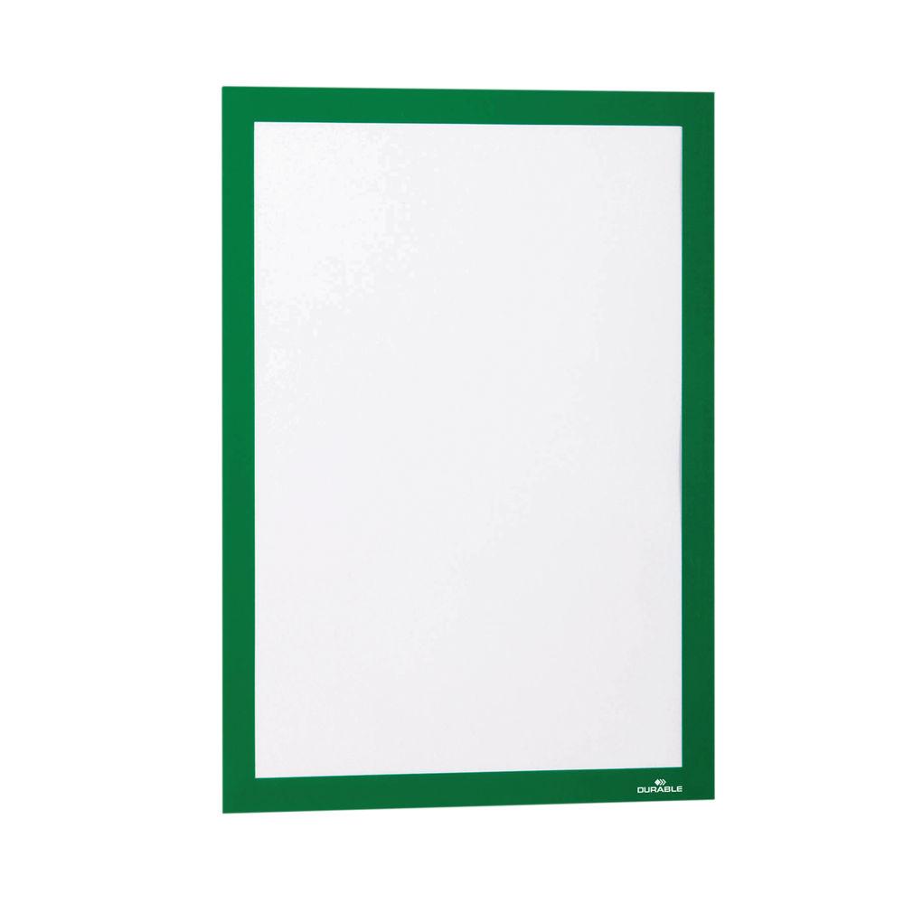Durable Duraframe Self Adhesive Frame A4 Green (Pack of 2) 487205