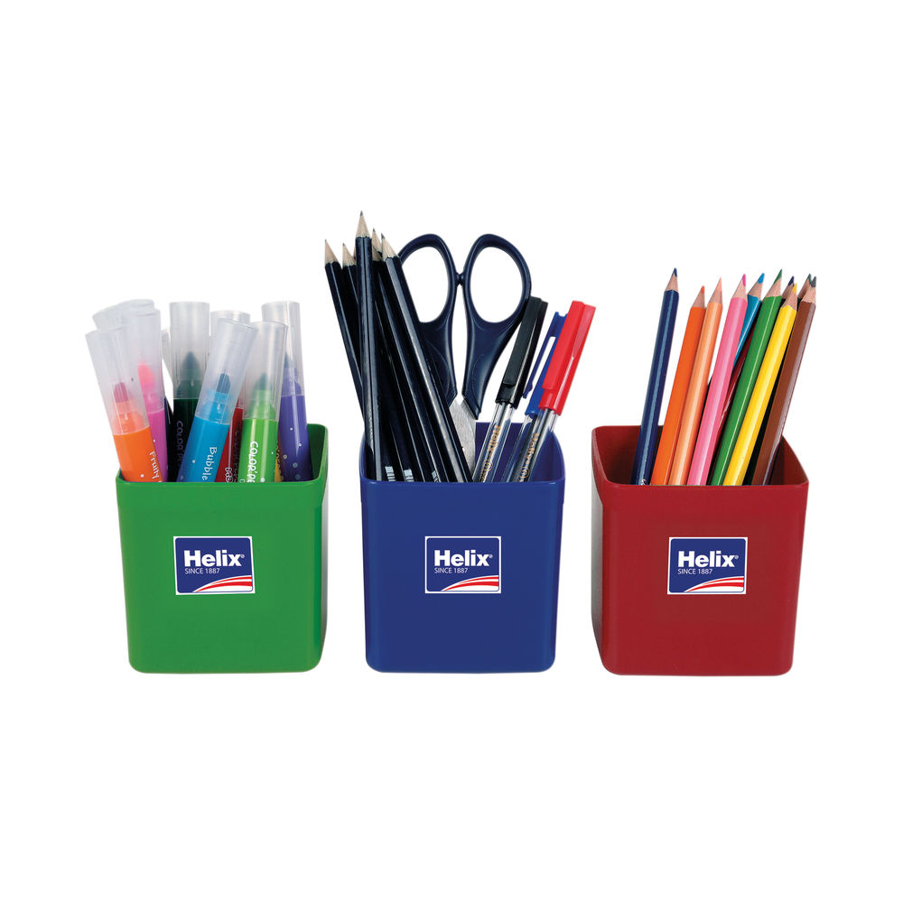 Helix Pencil Pots Assorted (Pack of 12) 753810