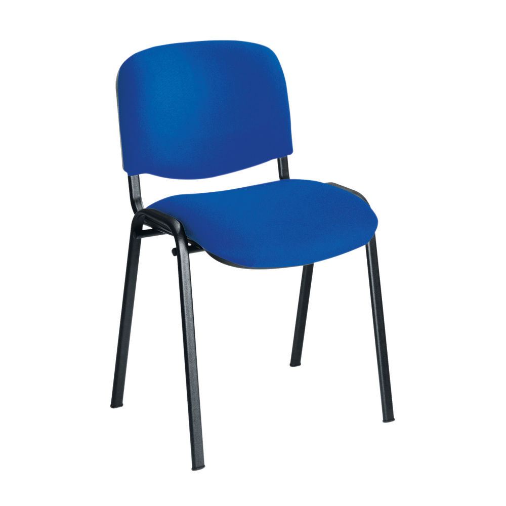 First Ultra Blue/Black Multipurpose Stacker Chair