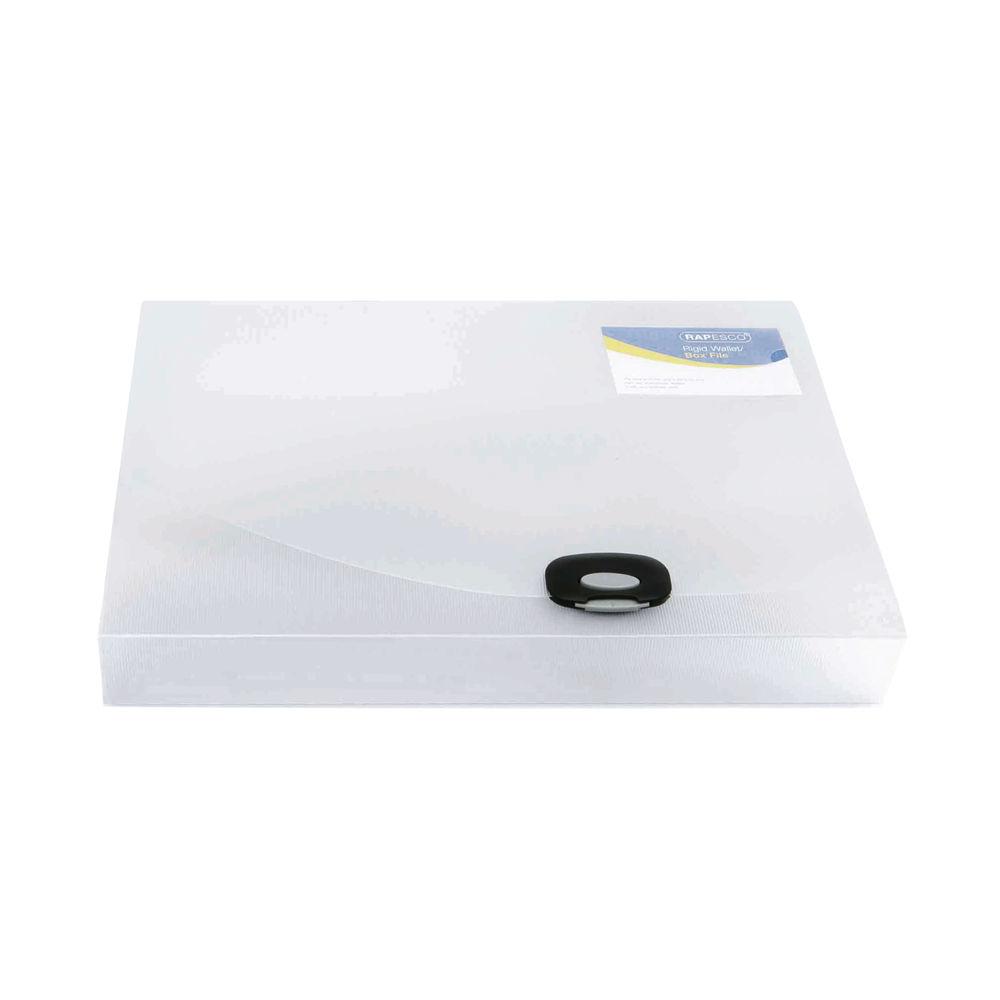 Rapesco Clear Rigid A4 Wallet Box File 40mm - HT17038
