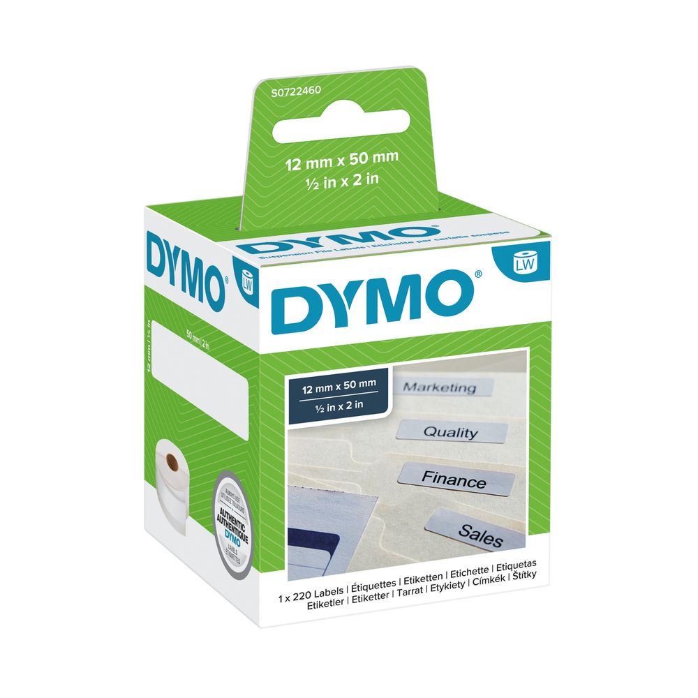 Dymo 99017 LabelWriter Suspension File Labels 50mm x 12mm S0722460