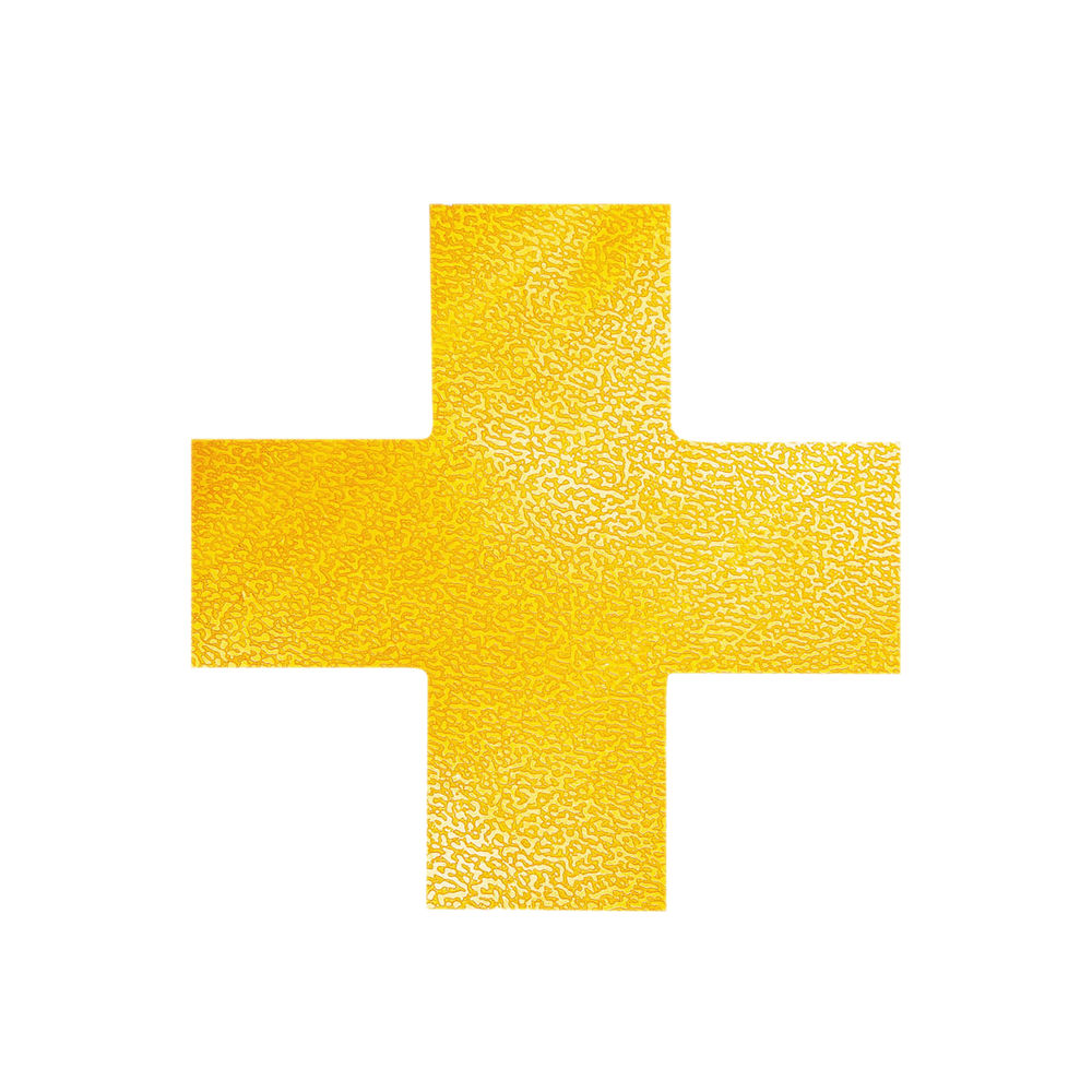 Durable Floor Marking Shape Cross, Yellow (Pack of 10) 170104