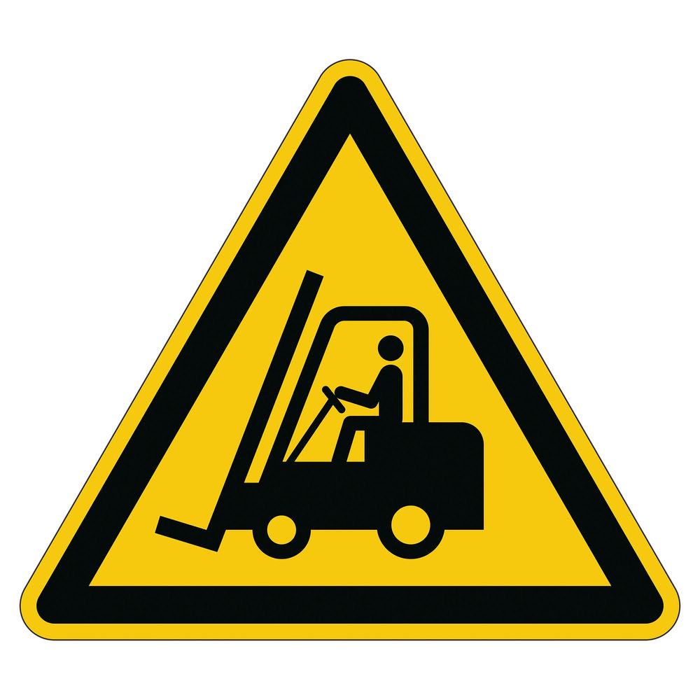 Durable 430mm Caution Forklifts Floor Sign - 173404