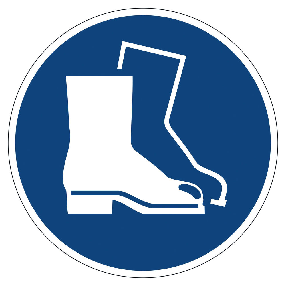 Durable Use Foot Protection Floor Sign - 173306