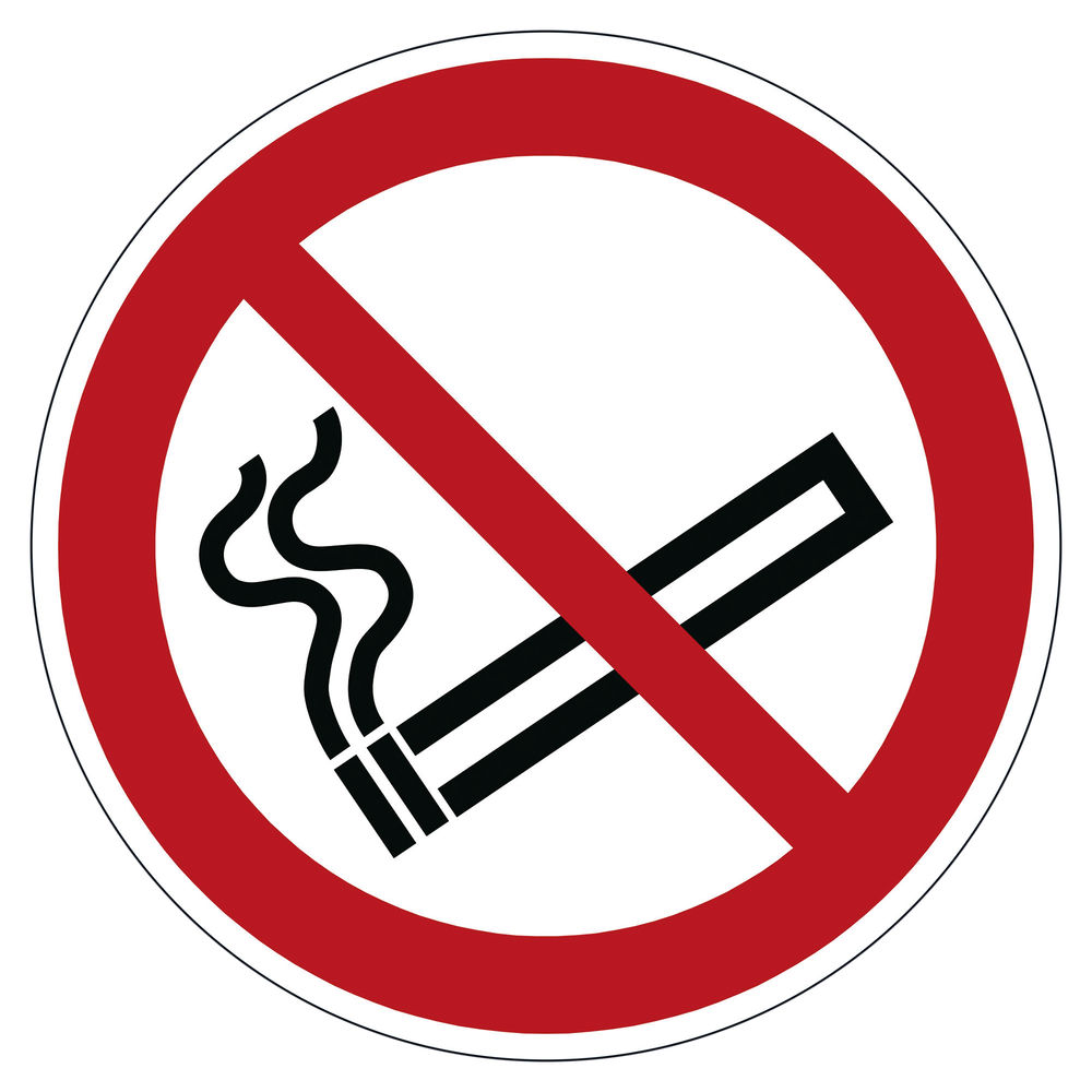 Durable Smoking Prohibited Floor Sign 172803