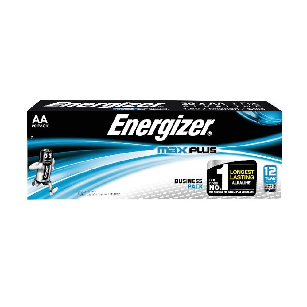Energizer Max Plus AA Batteries, Pack of 20 - E301323500