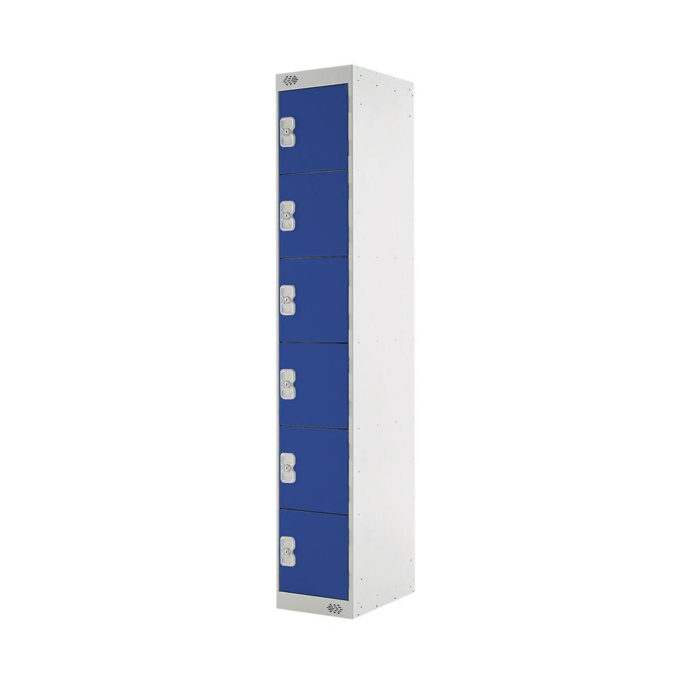 Six Compartment D450mm Blue Locker - MC00067