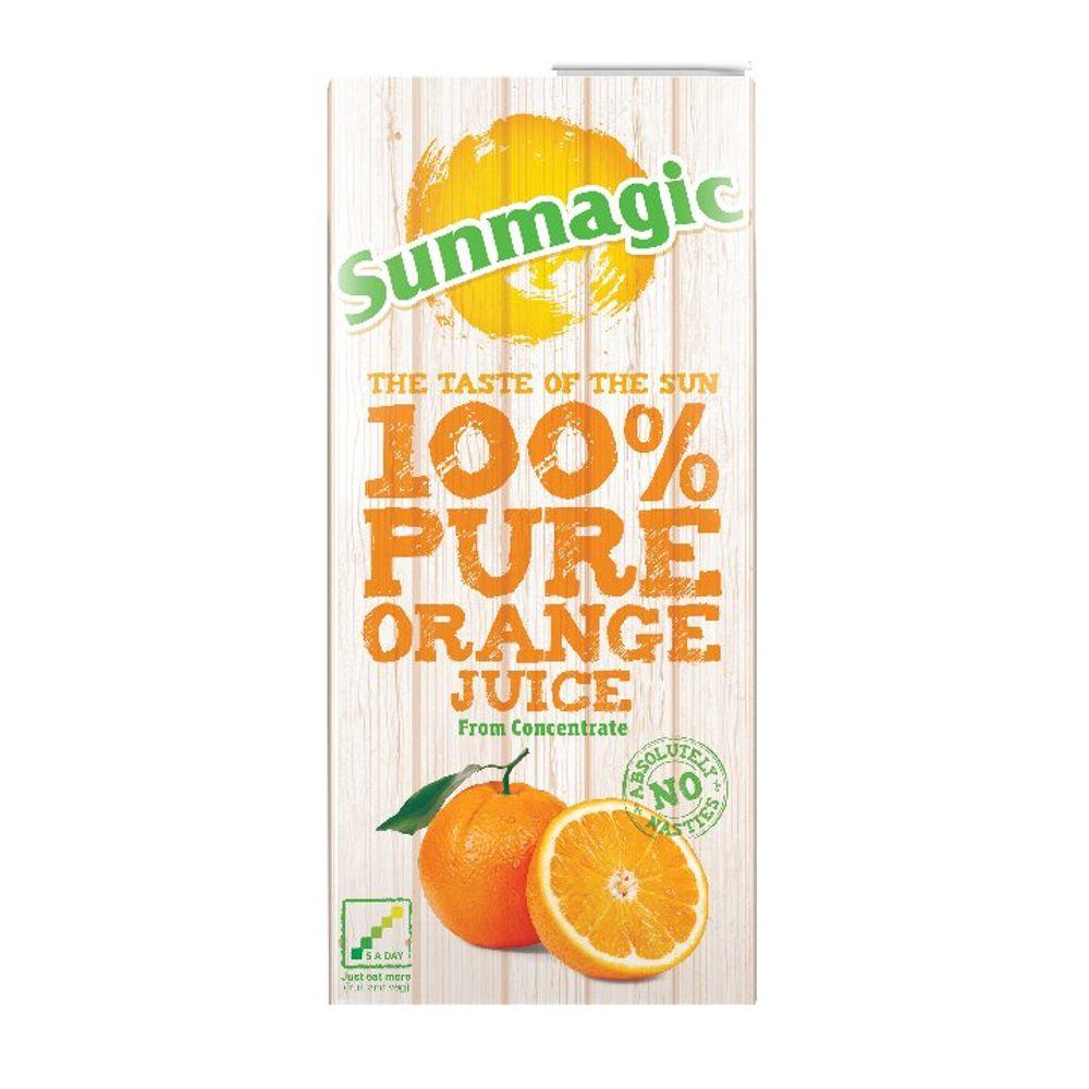Pure Orange Juice 1 Litre Cartons, Pack of 12 | A01650