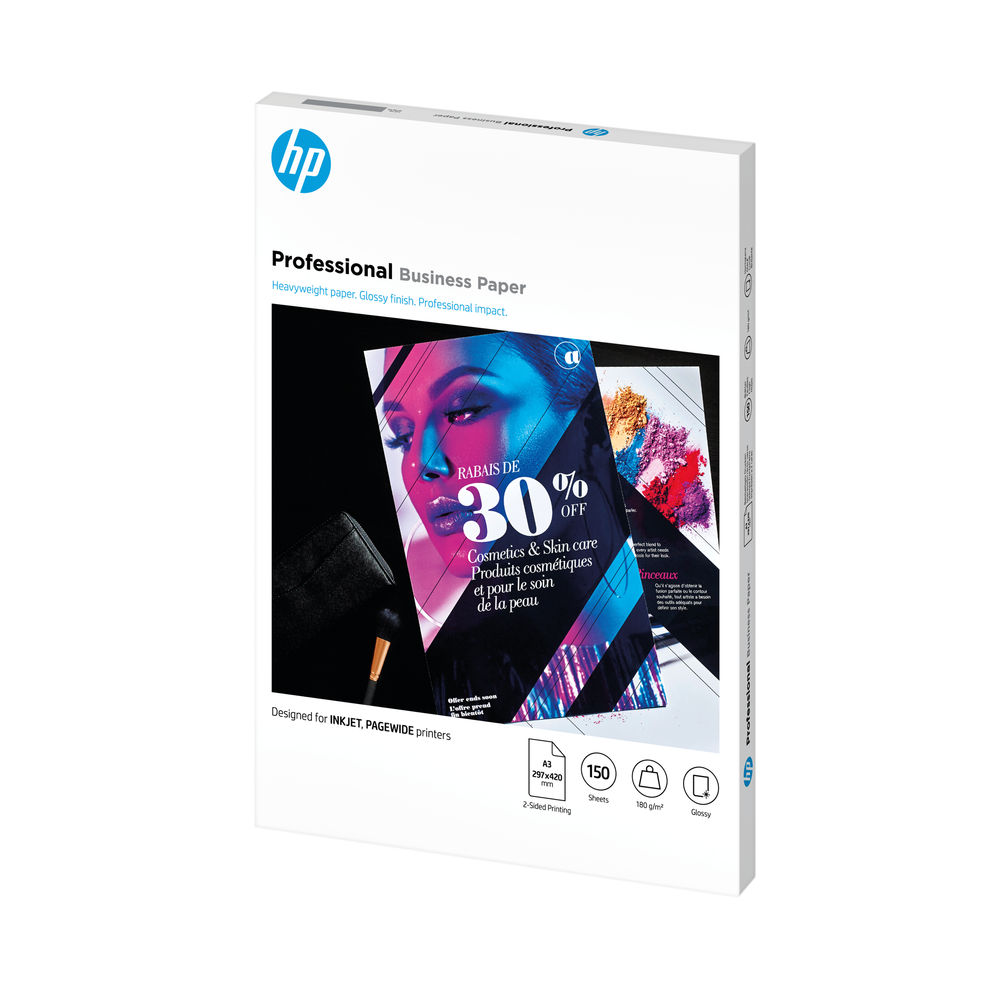 HP Professional A3 White 180 gsm Glossy Paper (Pack of 150) – 7MV84A