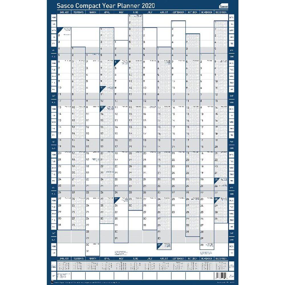Sasco 2020 Portrait Compact Year Planner - 2410107
