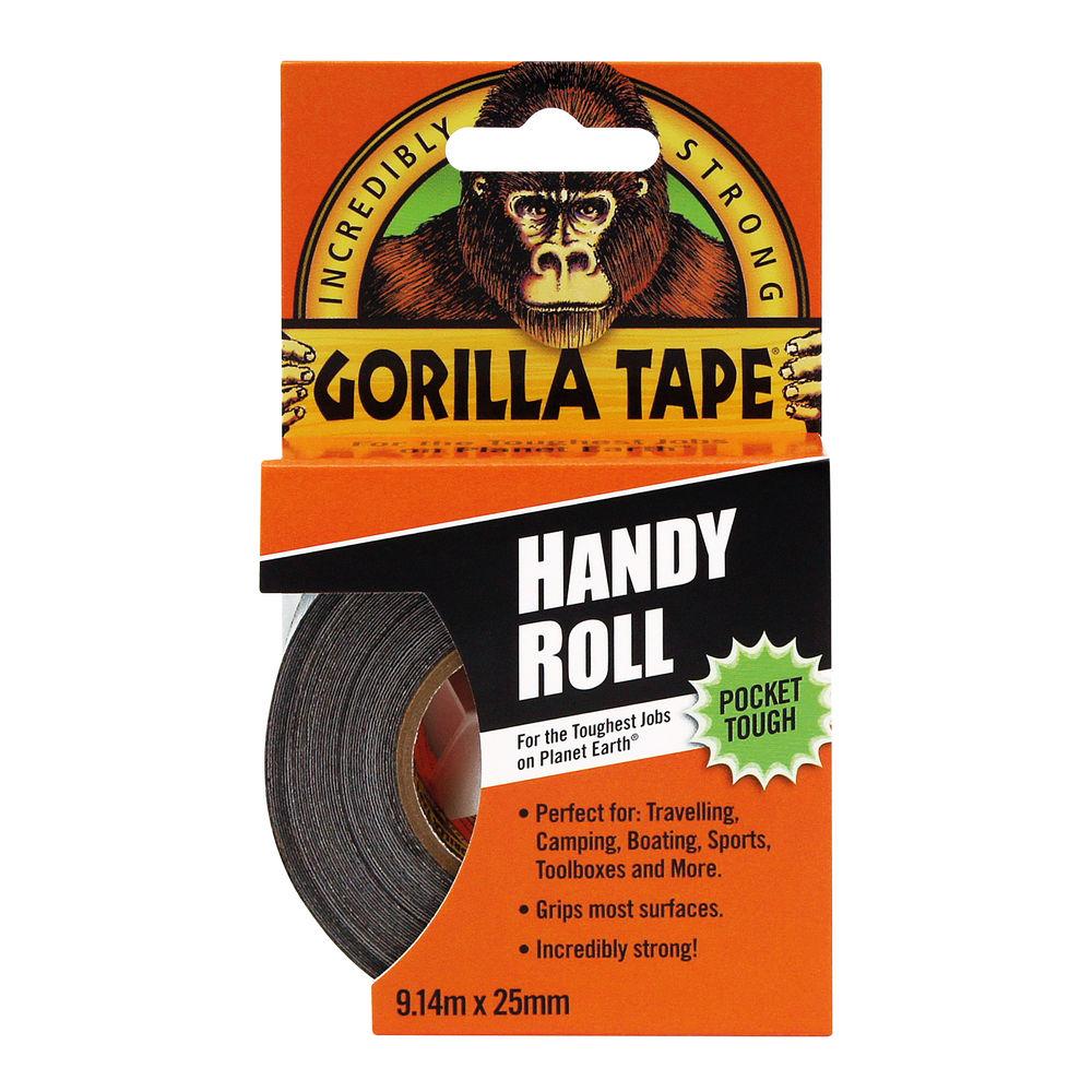 Gorilla 25mm x 9.14m Black Handy Roll Tape – 3044401