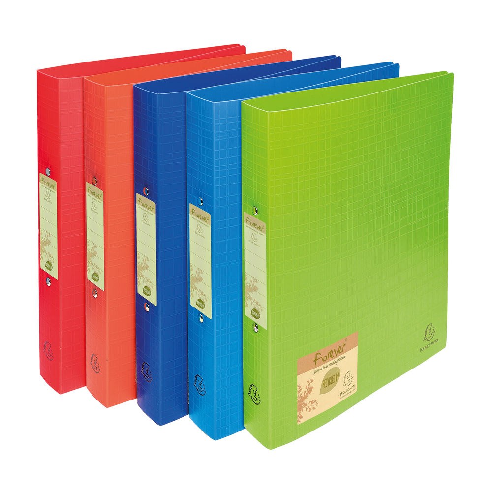 Forever Assorted A4 30mm 2 Ring Binders, Pack of 10 - 542570E