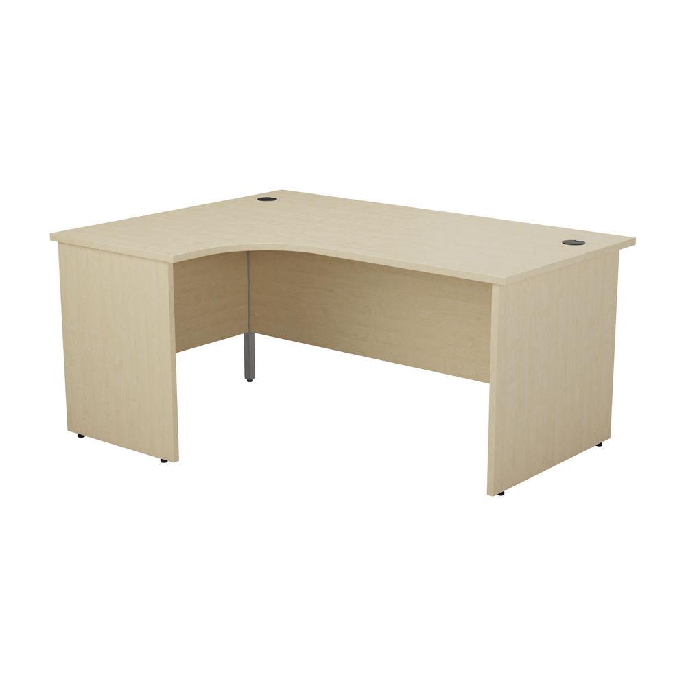 Jemini 1600mm Maple Left Hand Radial Panel End Desk