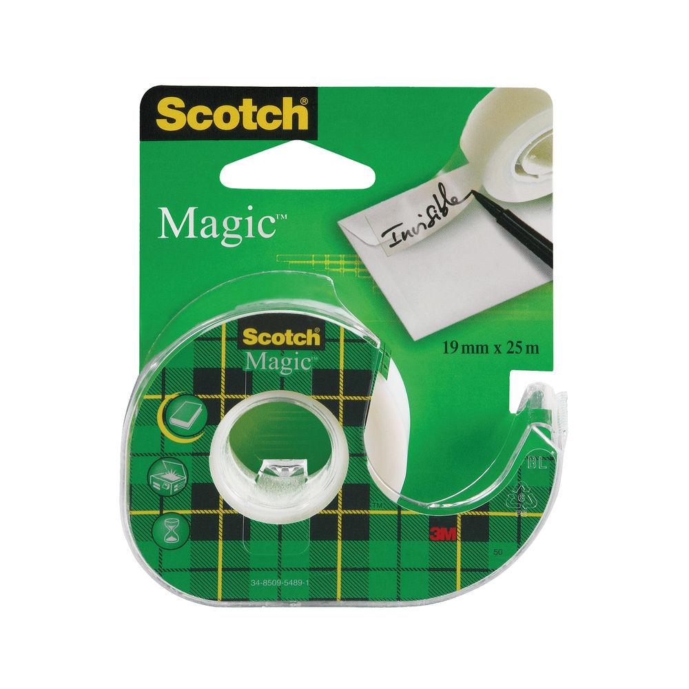 Scotch 19mm x 25m Magic Tape Refill Rolls, Pack of 3 - 8-1925R3