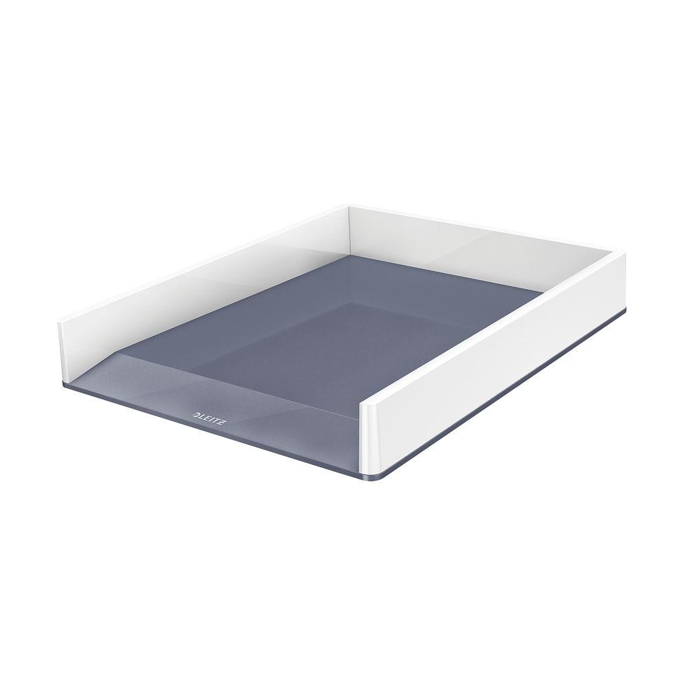 Leitz WOW Letter Tray Dual Colour White/Grey 53611001