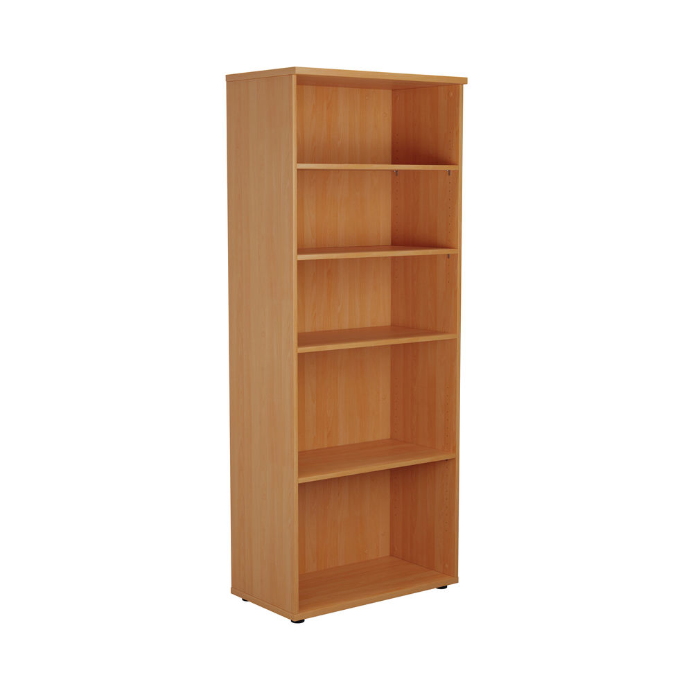 First 2000mm Beech Wooden Bookcase