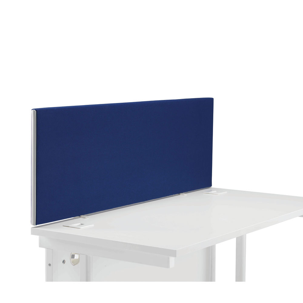 First 1200mm Royal Blue Desk Mounted Screen