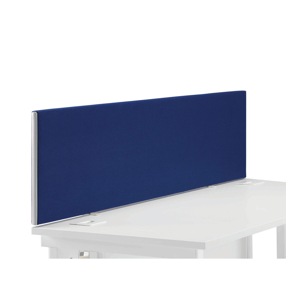 First 1400mm Royal Blue Desk Mounted Screen