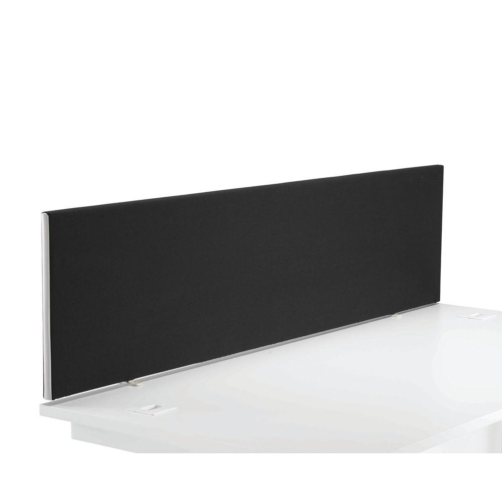 First 1600mm Black Desk Mounted Screen