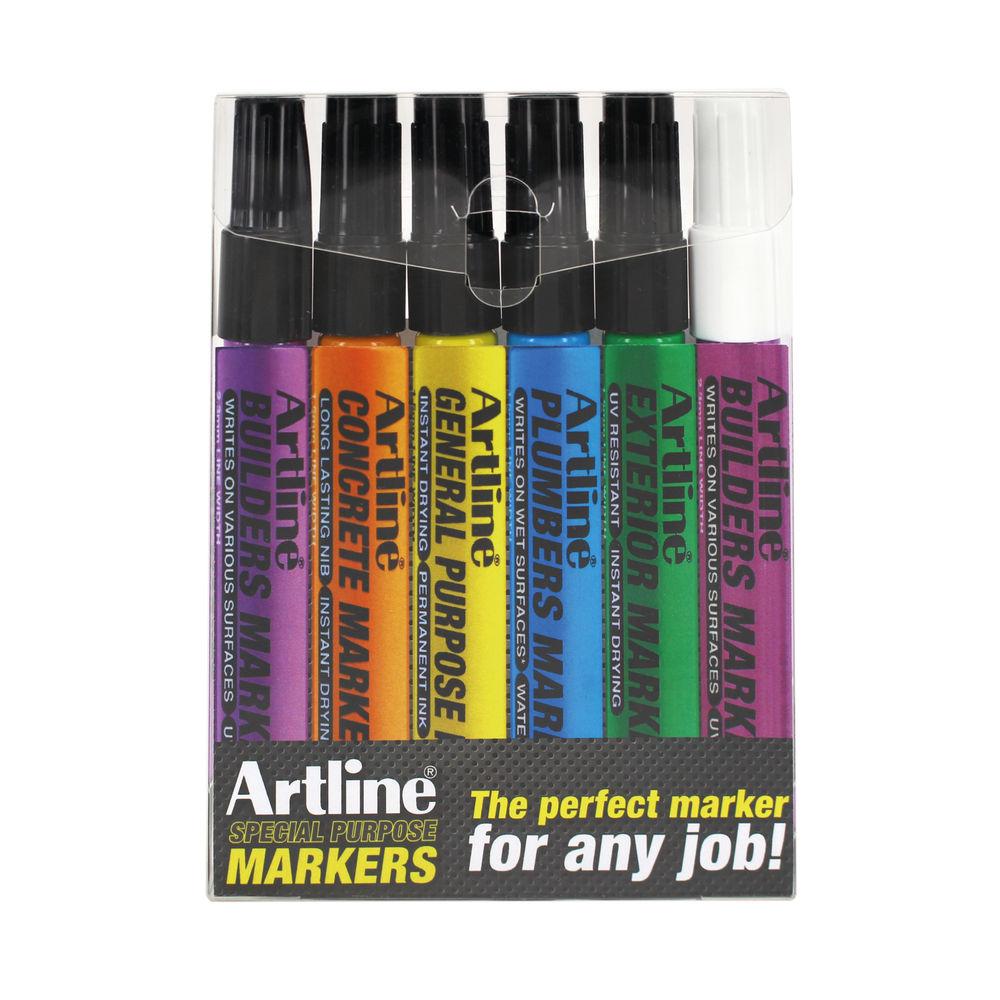 Artline EKPRW6 Builders Marker Kit (Pack of 6) EKPR BUILDERS W6