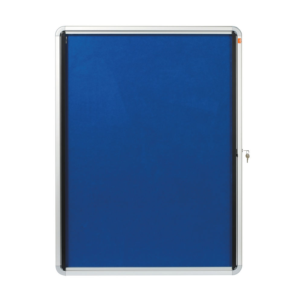 Nobo Internal Glazed Case 9 x A4 Blue 1902556