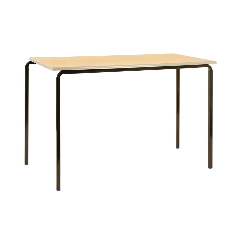 Jemini W1200 x D600 x H760mm Beech/Silver MDF Edged Class Tables, Pack of 4