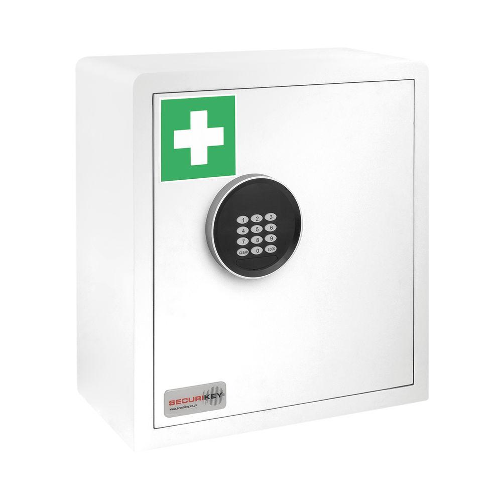 Securikey Electronic Medical Cabinet 180D Small White KFAK-MC180D-ZE