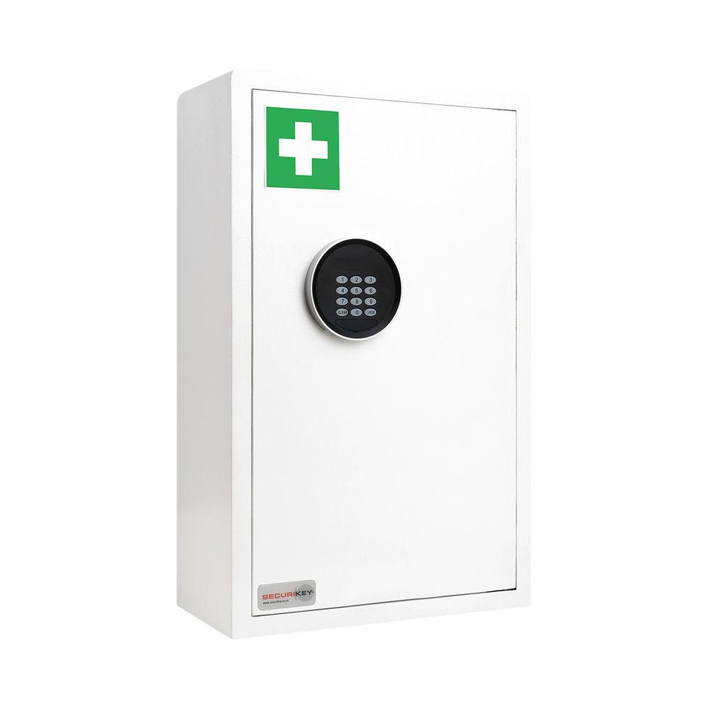 Securikey Electronic Medical Cabinet 200D Medium White KFAK-MC200D-ZE