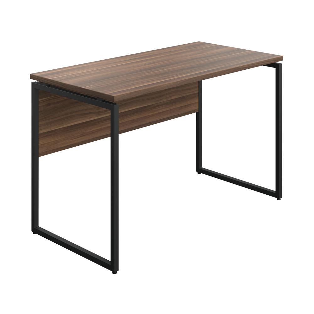 Jemini Soho Dark Walnut/Black Square Leg Desk - SD03BKDW