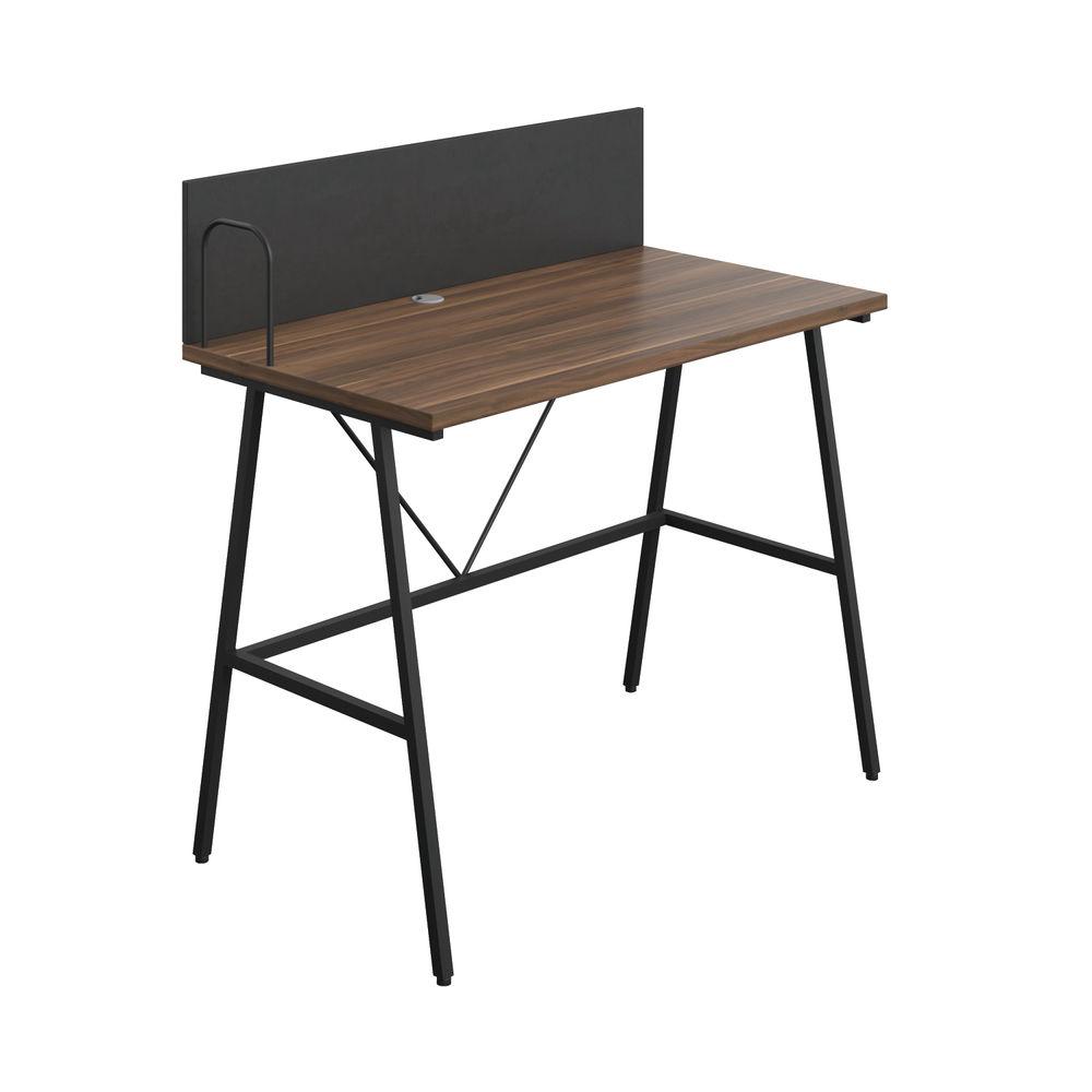 Jemini Soho Dark Walnut/Black Backboard Desk - SD09BKDW
