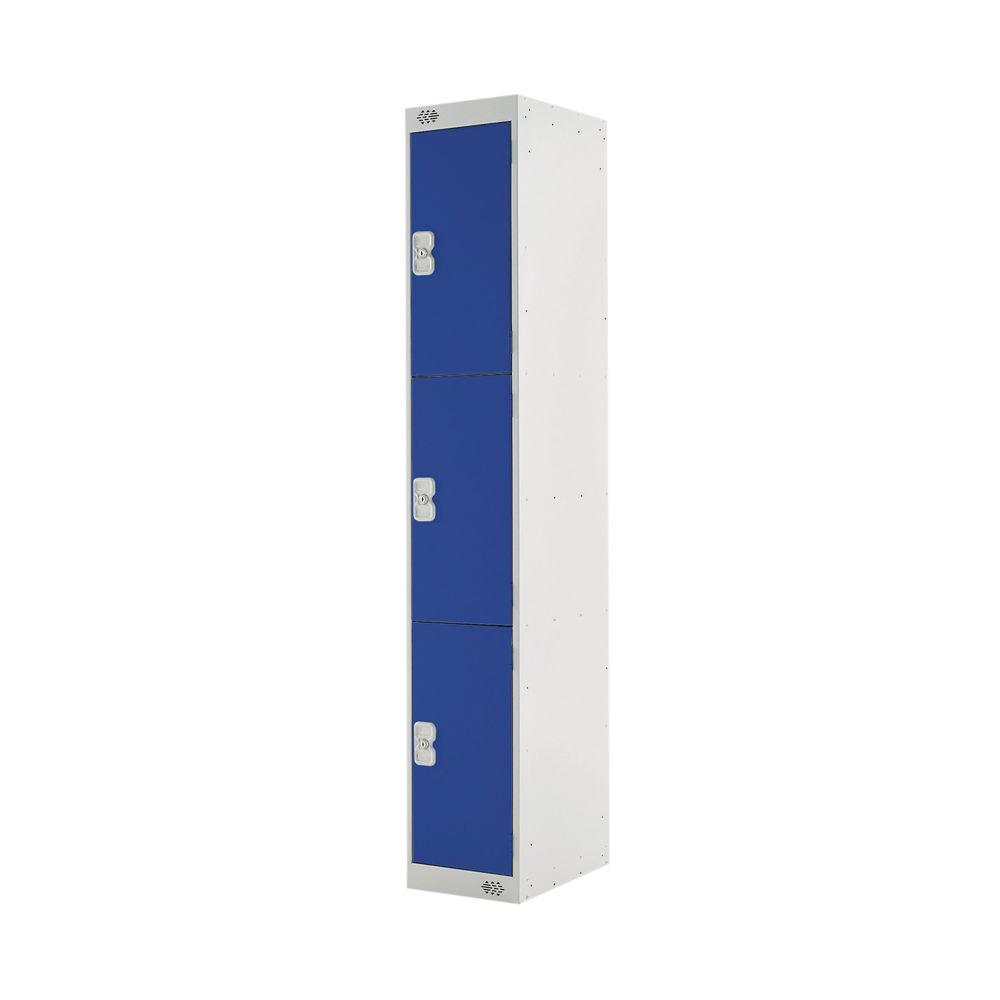 Three Compartment D300mm Blue Locker - MC00013