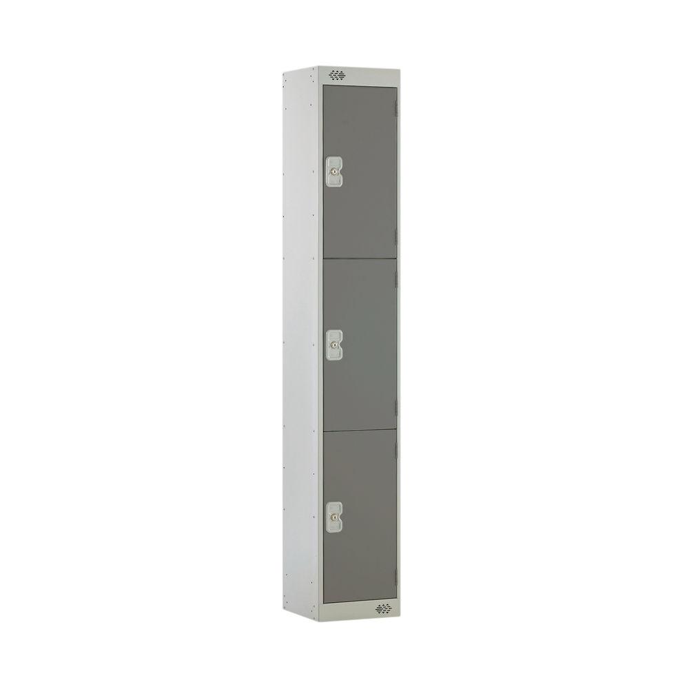 Three Compartment D300mm Dark Grey Locker - MC00015