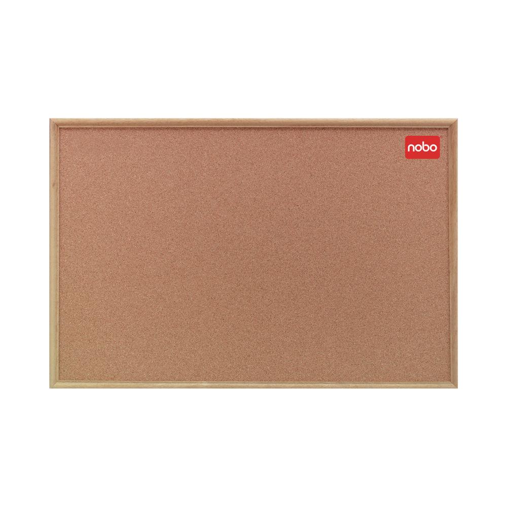 Nobo Cork Noticeboard 1200x900mm Classic Oak 37639004