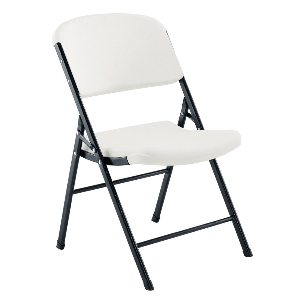 Jemini White Lightweight Folding Chair