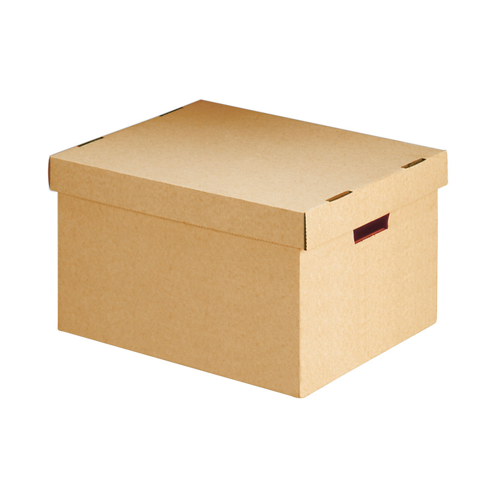 Brown 281 x 255 x 330mm Storage Box with Lid - 154