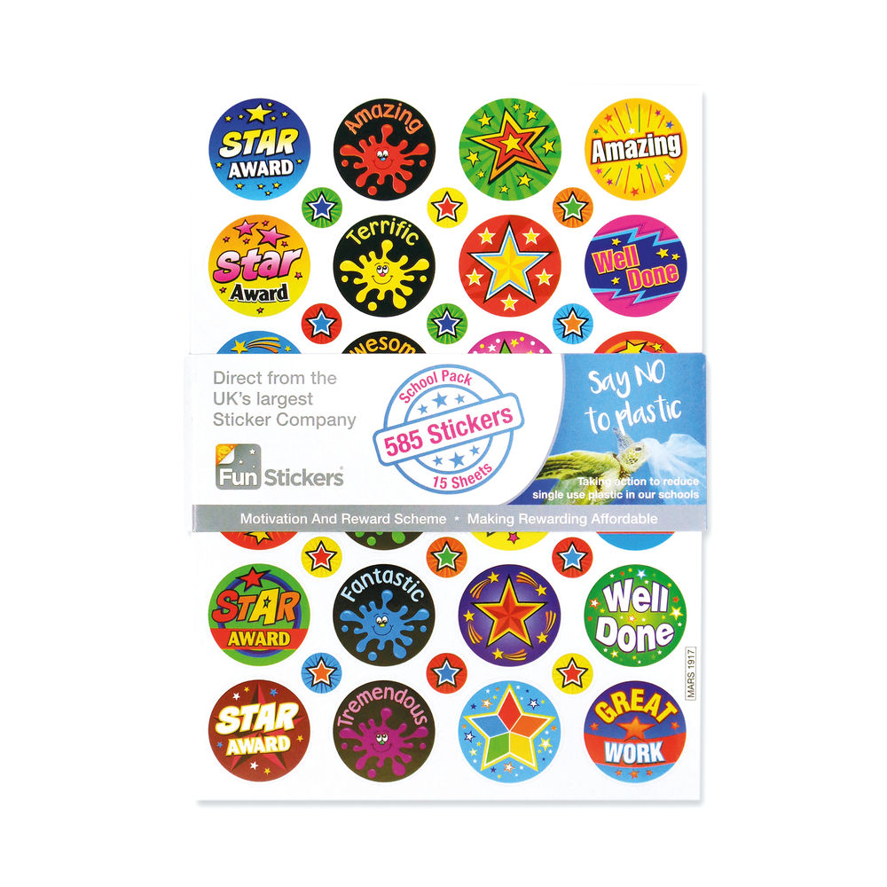 Fun Stickers 585 Achievement Stickers A5 (Pack of 15) Mars 1917