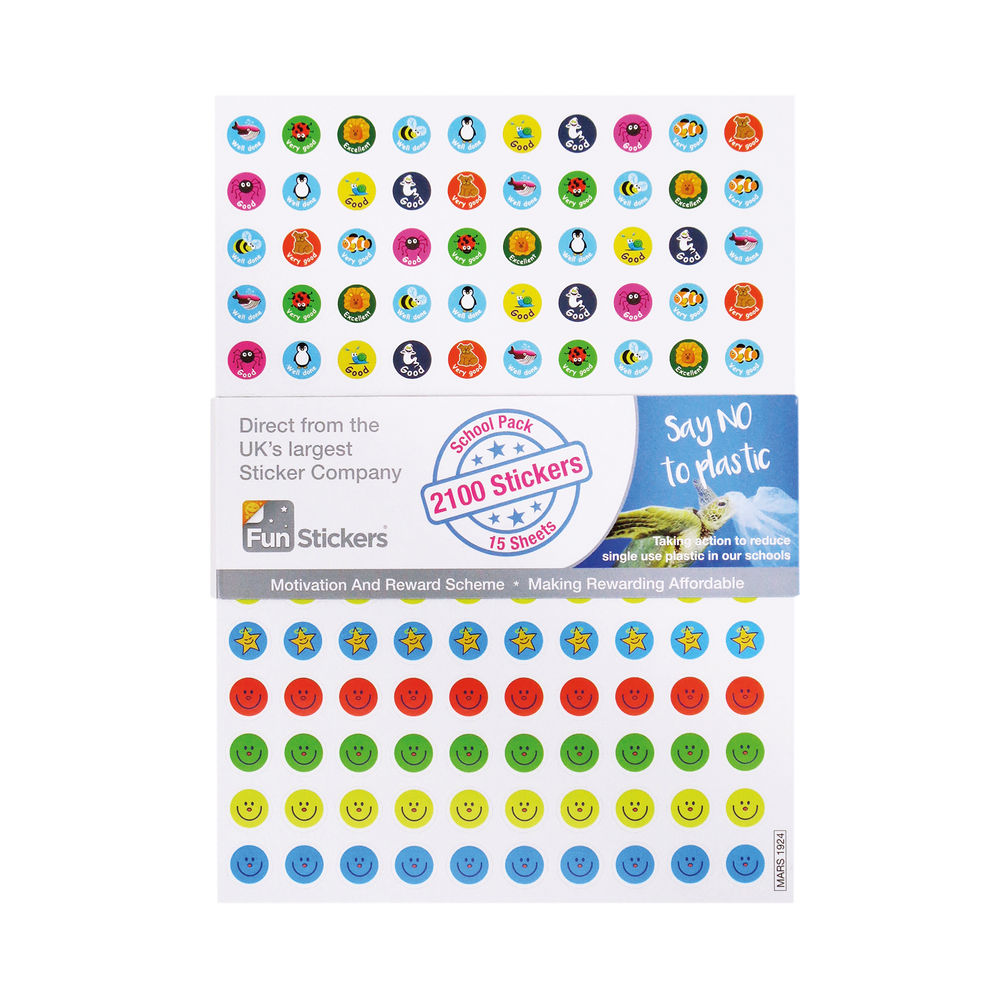 Fun Stickers 2100 Reward Stickers A5 (Pack of 15) Mars 1924