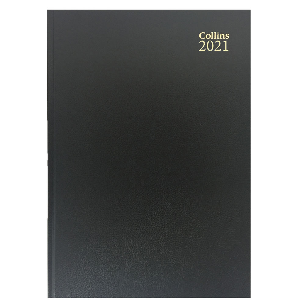Collins Black A5 Day Per Page 2021 Diary - 52