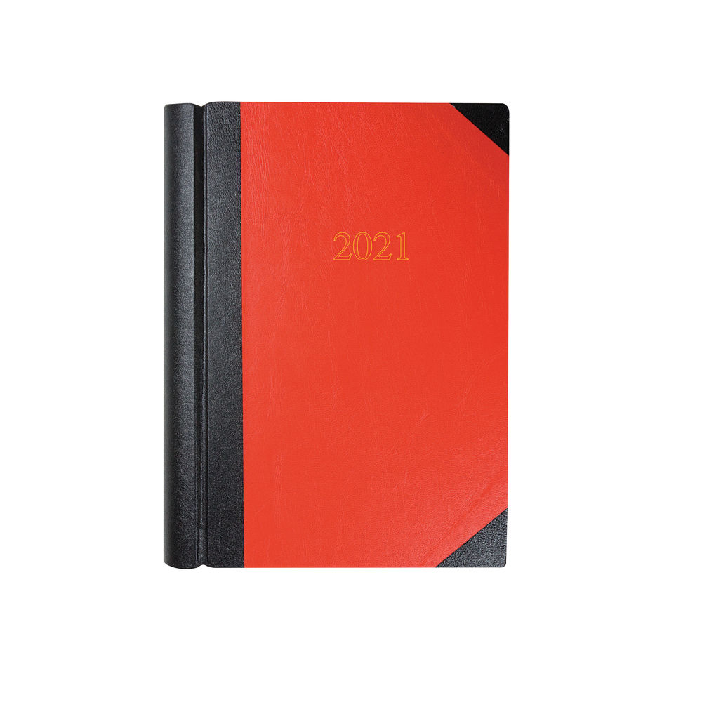 Collins Black and Red A4 2 Pages Per Day 2021 Desk Diary - 42