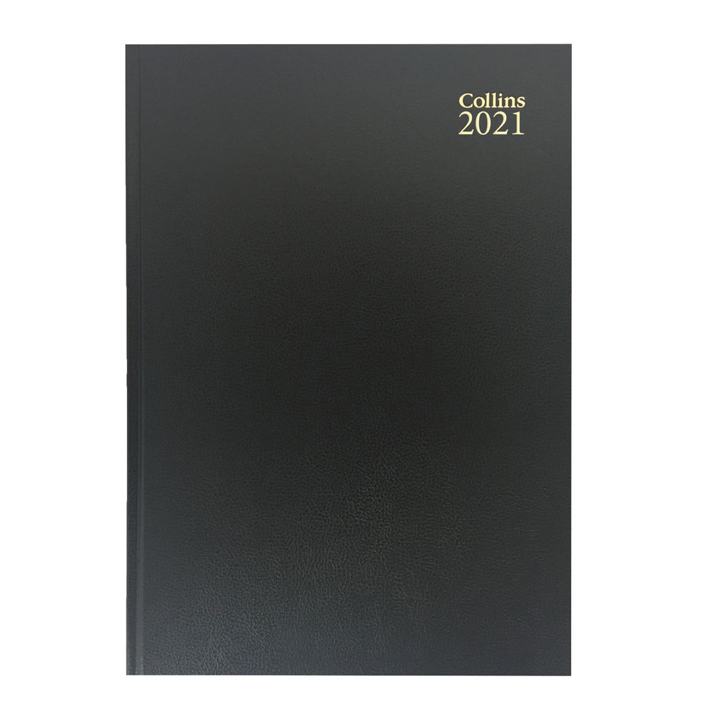 Collins Black A4 2 Pages Per Day 2021 Desk Diary - 47