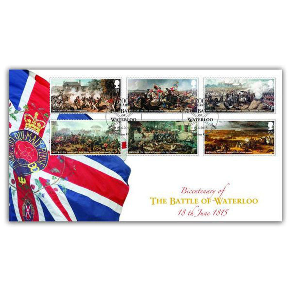 The Battle of Waterloo Stamps First Day Cover - BC526