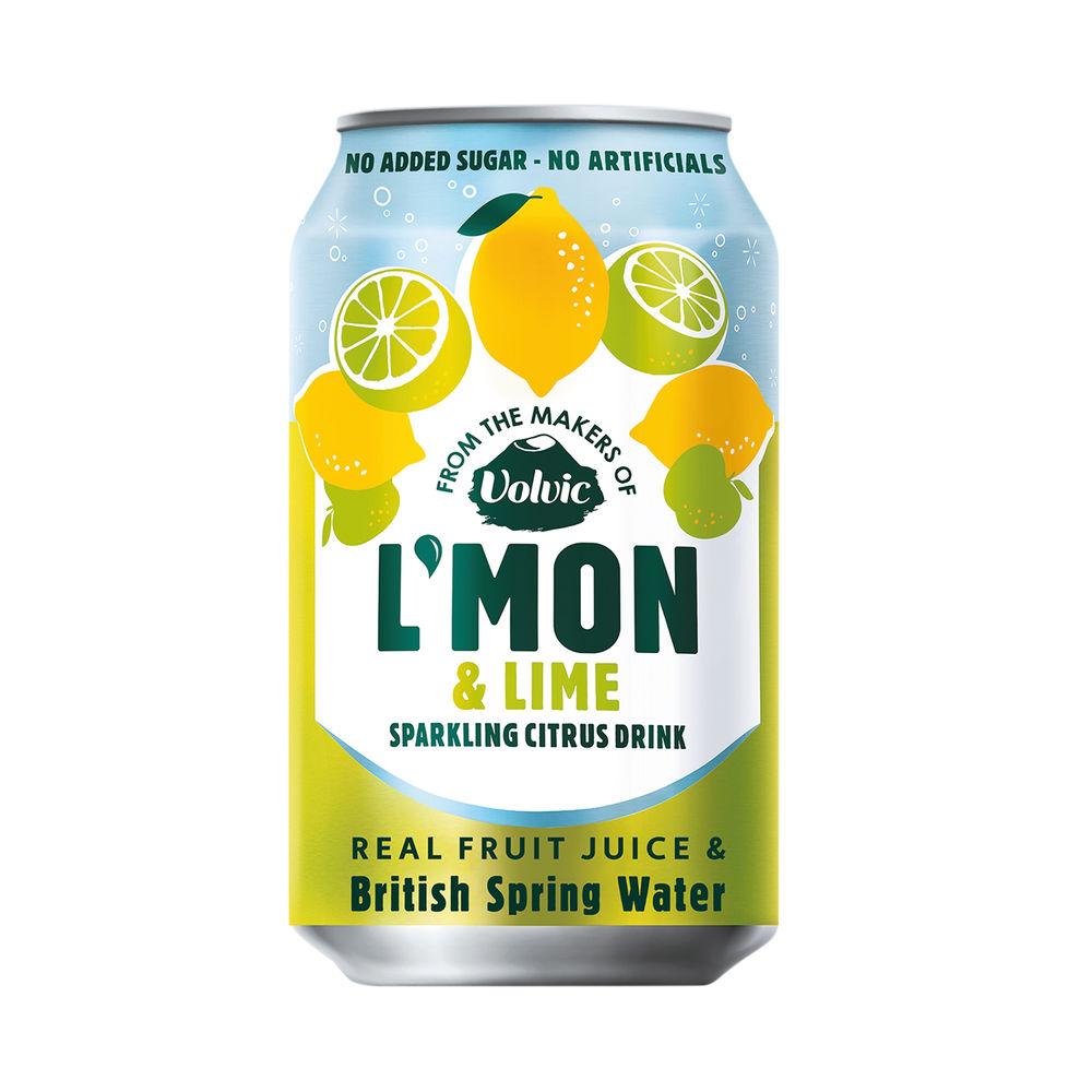 Volvic L'Mon Sparkling Lemon and Lime 330ml (Pack of 12) 145922