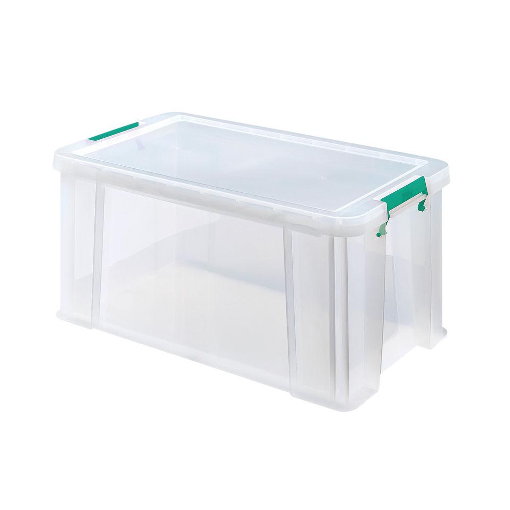 StoreStack 54 Litre Storage Box W640xD380xH310mm Clear RB77234