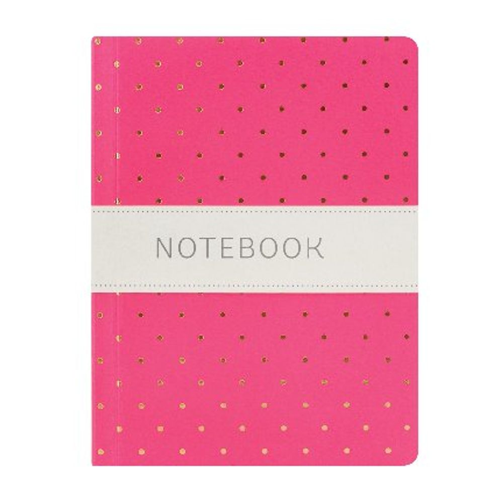 Go Stationery A6 Pink and Gold Polka Dot Notebook - 6PN406G