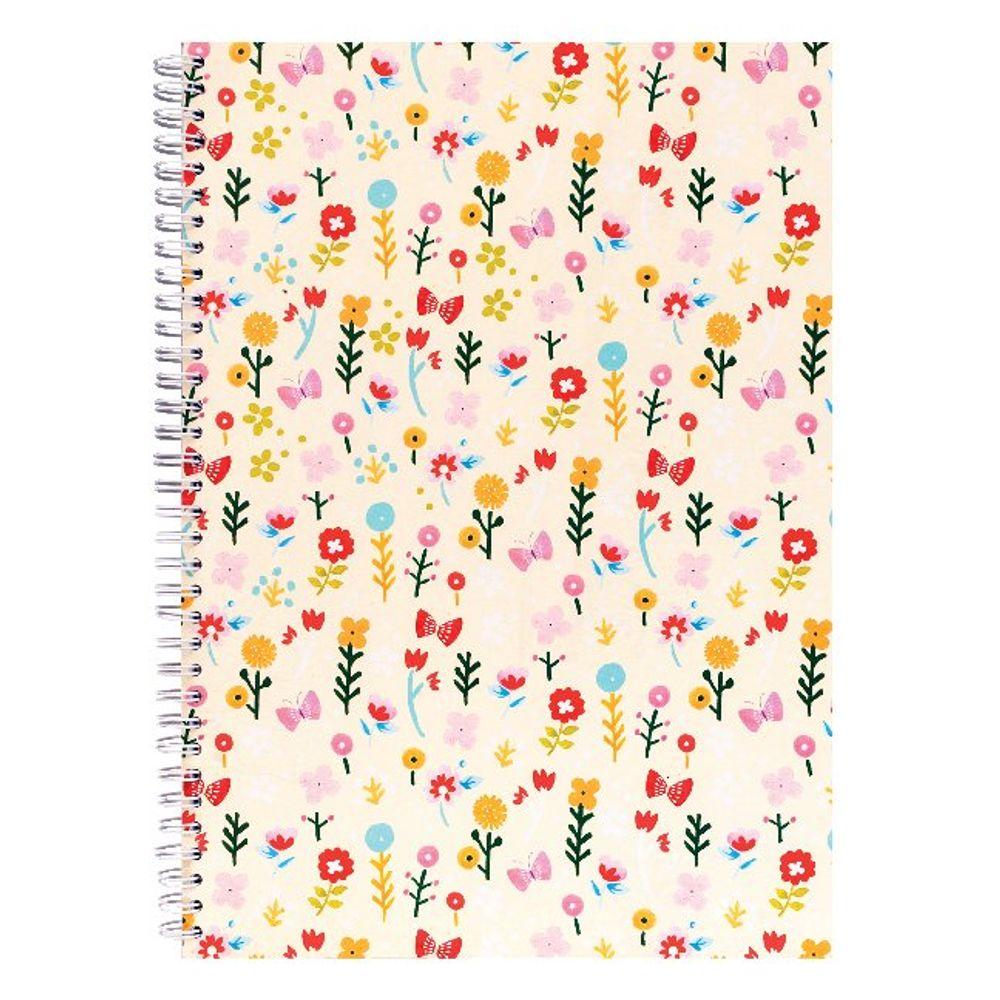 Go Stationery A4 Vintage Ditsy Notebook - 4NC200A
