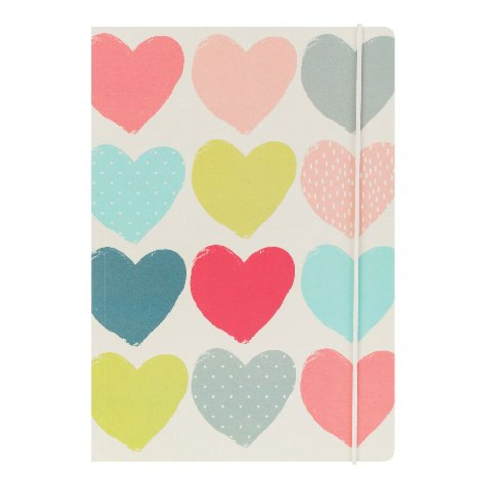 Go Stationery A5 Hearts Notebook - 5PN405