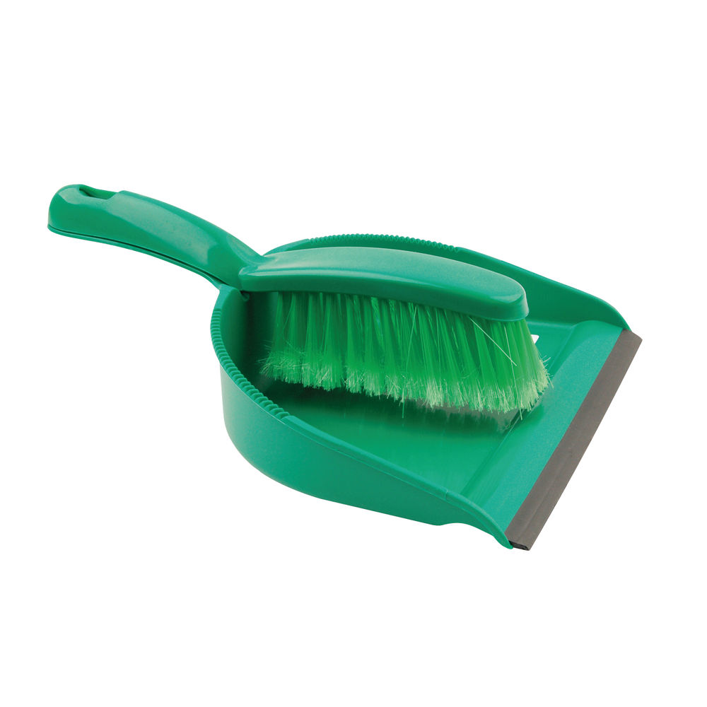Green Dustpan and Brush Set – 102940GN